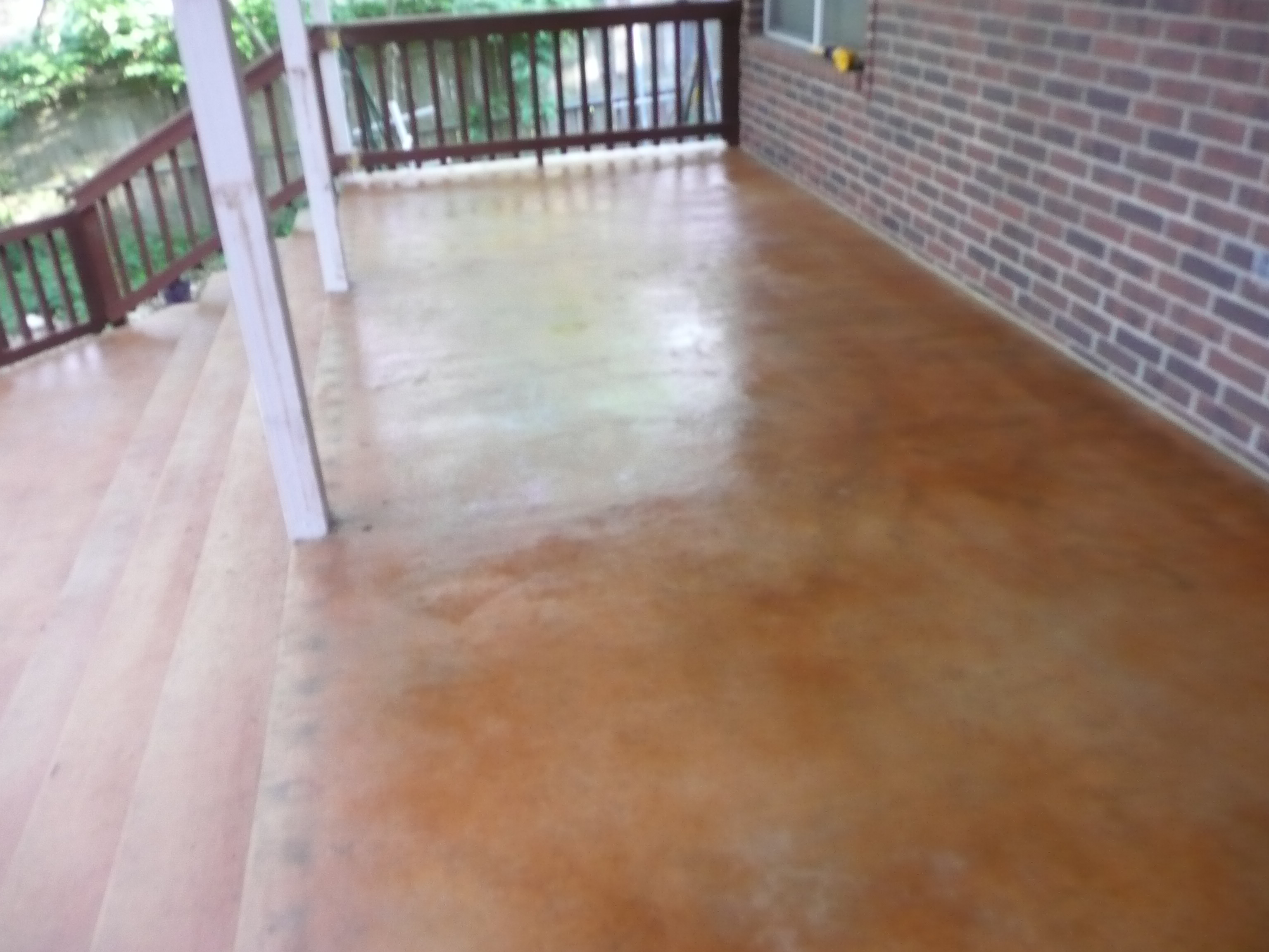 Concrete Patio Stained
