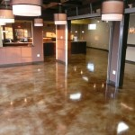 acetone dyed concrete floor