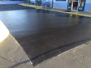 After Sealing Concrete With Solid Color Sealer