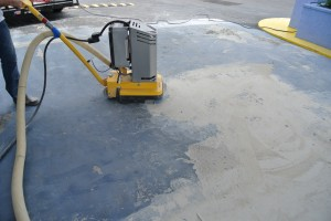Grinding Paint Off Concrete