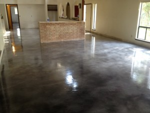 After Concrete Floor Stained & Sealed