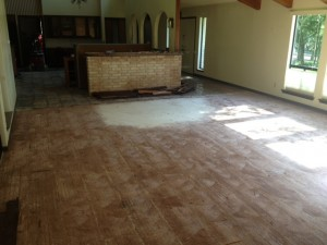 After Removing Glued Down Wood Flooring