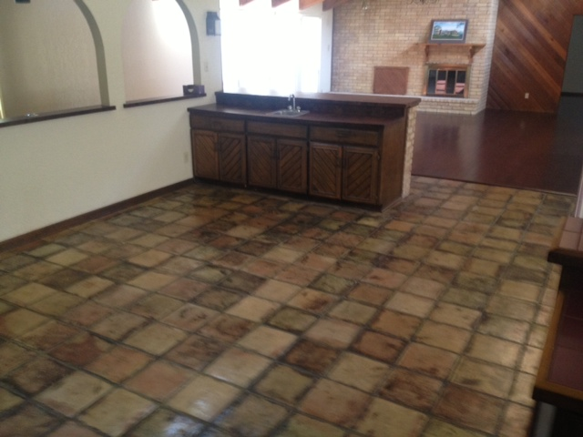 Before Saltillo Tile Resurfaced