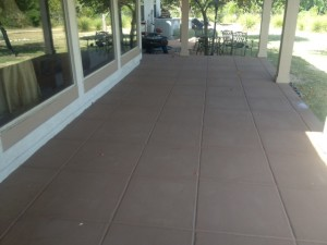 Painted Concrete Surface