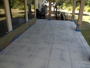 After Grinding The Acid Stain & Paint Off The Concrete