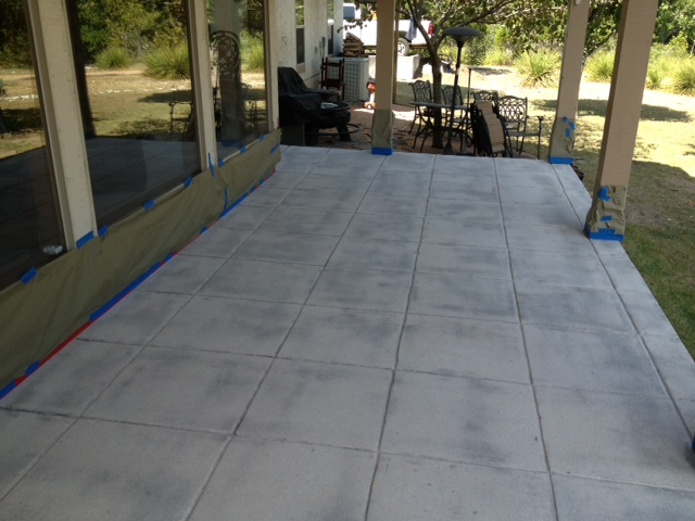 Stained concrete patio in fair oaks ranch texas mvl for Acid wash concrete patio