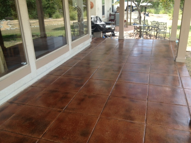 Concrete Stained Sealed