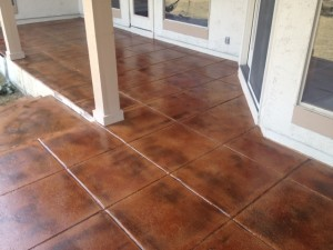 Concrete Stained & Sealed