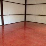 Polished Concrete in Garage