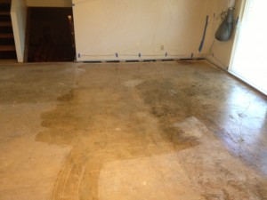 Before Concrete Was Cleaned & Stained