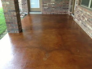 Acid Stained Patio - Vintage Umber