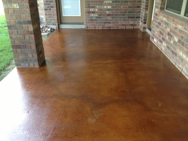 Acid Stained Patio   Vintage Umber
