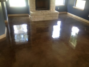 After Sealing the Concrete