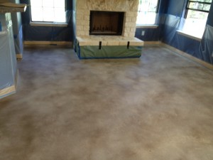 After Staining the Concrete