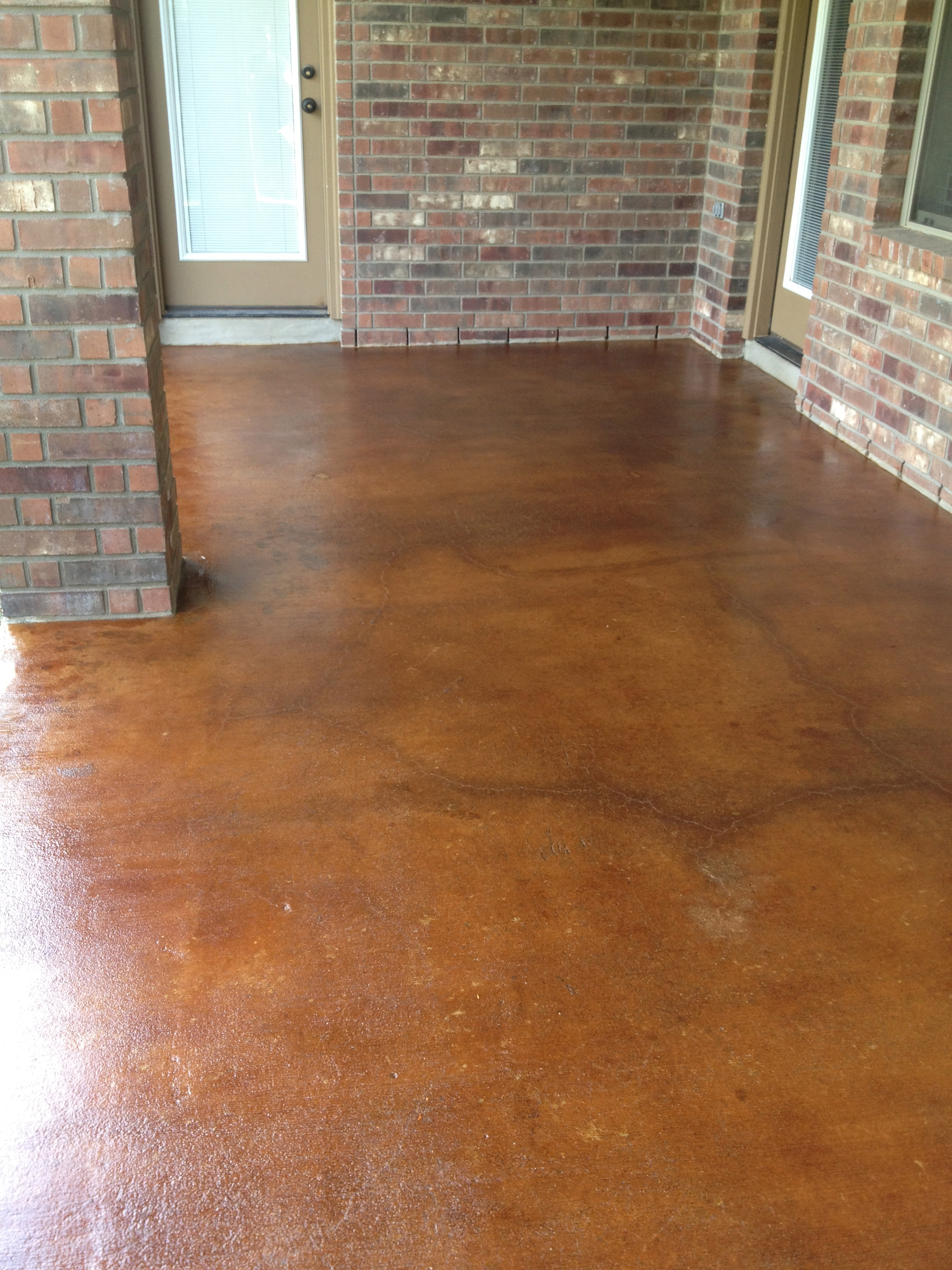 Concrete Patio Acid Stained With Vintage Umber Mvl