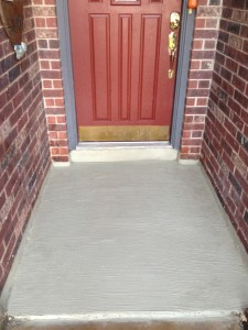 Concrete Resurfaced With Heavy Broom Finish