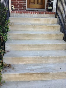 Before Concrete Stairs Repaired
