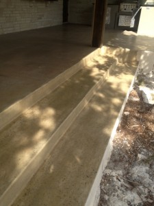 Concrete Steps Sealed