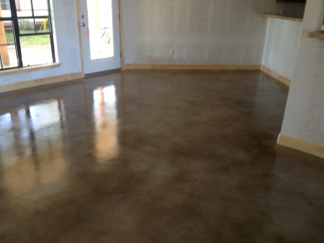 Stained concrete floor in pleasanton tx mvl concretes 39 blog for How to clean concrete floors before staining