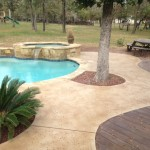 Concrete Stained Around Pool