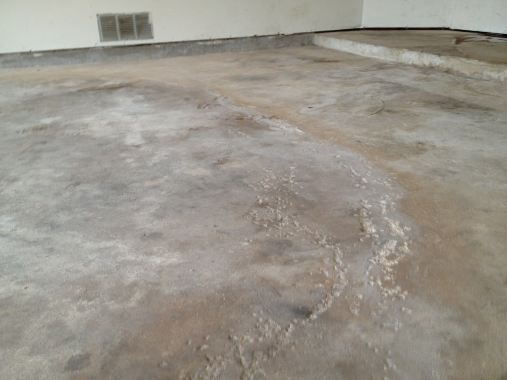 Concrete with moisture problems mvl concretes 39 blog for How to clean concrete floor in house