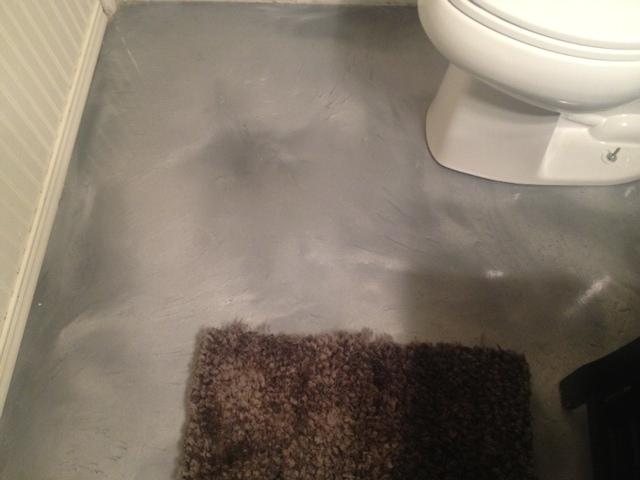 Epoxy Grout For Bathrooms: Metallic Epoxy Floor In Bathroom
