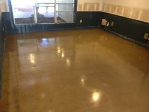 Concrete Floor Stained With Water Based Stain