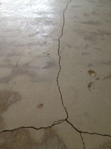 Before Repairing Foundation Crack