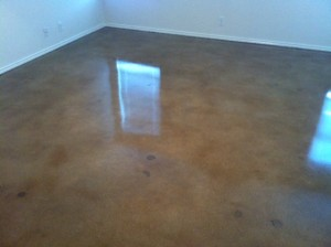 Stained Concrete Master Bedroom