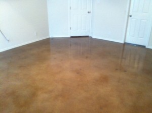 Stained Concrete in Single Bedroom