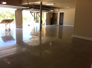Polished Concrete in Garage 800 Grit