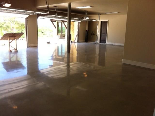 Polished Concrete In Garage 800 Grit