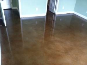 Stained Concrete in Bedroom
