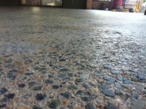 Before Grouting & Polishing Concrete