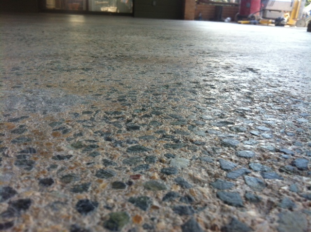 Before Grouting Amp Polishing Concrete Mvl Concretes Blog