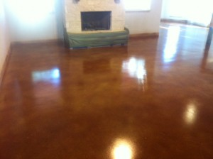 Vintage Umber Acid Stained Concrete
