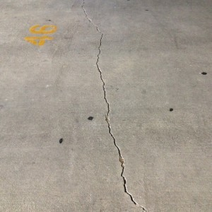 Before Repairing Crack In Parking Garage