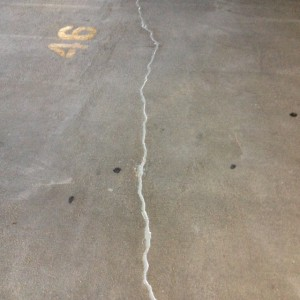 Concrete Crack Repair in Parking Garage