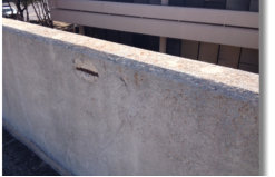 Small Piece Of Concrete Spalling